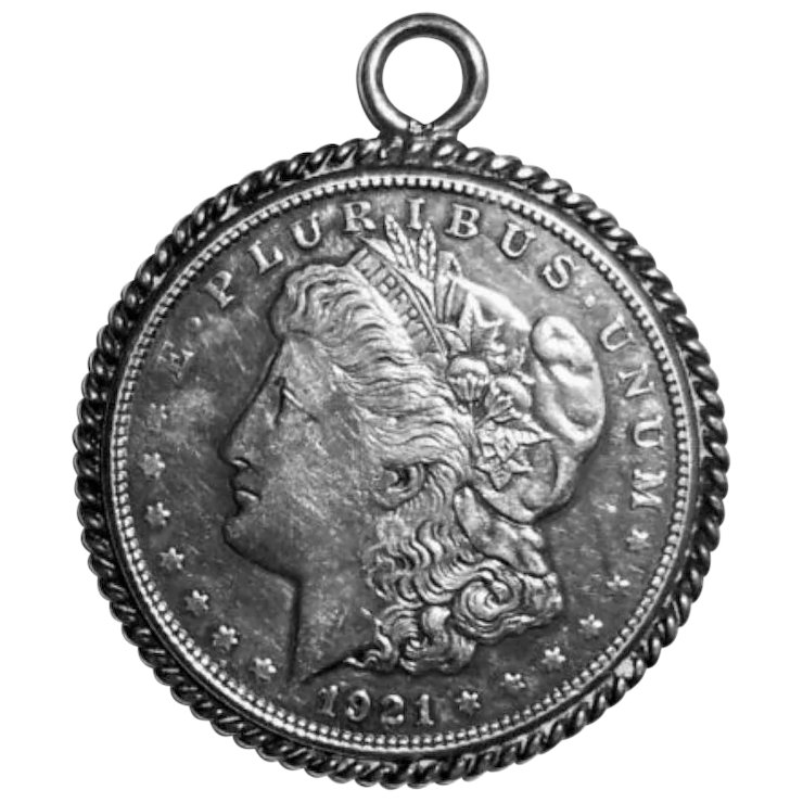 Art deco 1921 morgan 900 silver dollar coin sterling silver art deco 1921 morgan 900 silver dollar coin sterling silver pendant mozeypictures Choice Image
