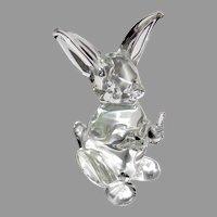 Mid Century Italian Seguso Art Glass Bunny Rabbit Sculpture Figure