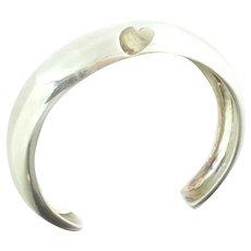 Roberto Faraone Mennella Sterling Silver Modernist Cuff Bracelet Size Small