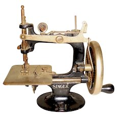 Early Singer Sewing Machine Working Art Deco