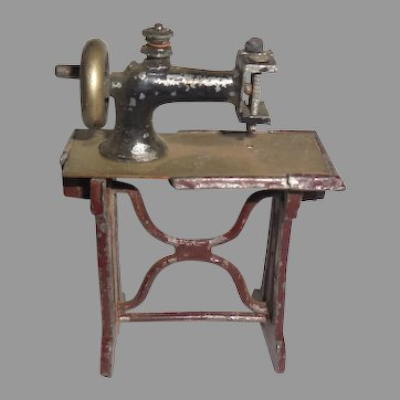 Sewing Machine Dollhouse Child Toy Miniature Cast Iron Working Germany