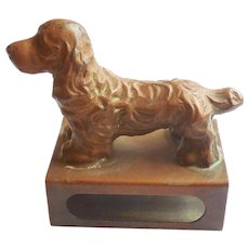 Vienna Bronze Dachshund Dog Match Holder