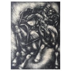 "1930 Lithograph ""Sleigh Drive"" by George  Biddle (1885-1973)"