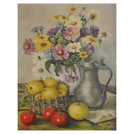 Still Life Oil on Canvas Signed by Maker