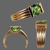 10K YG Clyde Duneier Peridot Ring