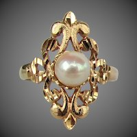 14K YG Beverly Hills Gold Pearl Ring