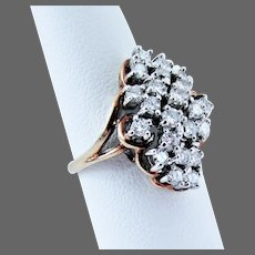 $2125.00 Appraisal, 14K YG  Diamond Ring, Size 7