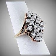 $2125.00 Appraisal, 14K YG  Diamond Ring, Size 7,