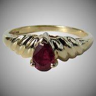14K Clyde Duneier Ruby Ring, Size 5 3/4