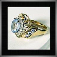 14K Light Blue Ceylon Sapphire Size 5 1/4