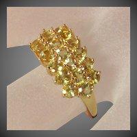 John C. Rinker 14K YG Scapolite Ring Size 8