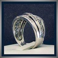 14K White Gold Diamond Ring Size 6 1/2