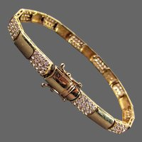 """12.61 Grams 14K YG Bracelet, 7 1/2"""" Closed"""