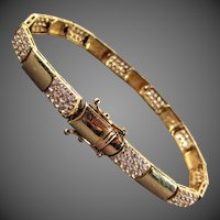 "12.61 Grams 14K YG Bracelet, 7 1/2"" Closed"