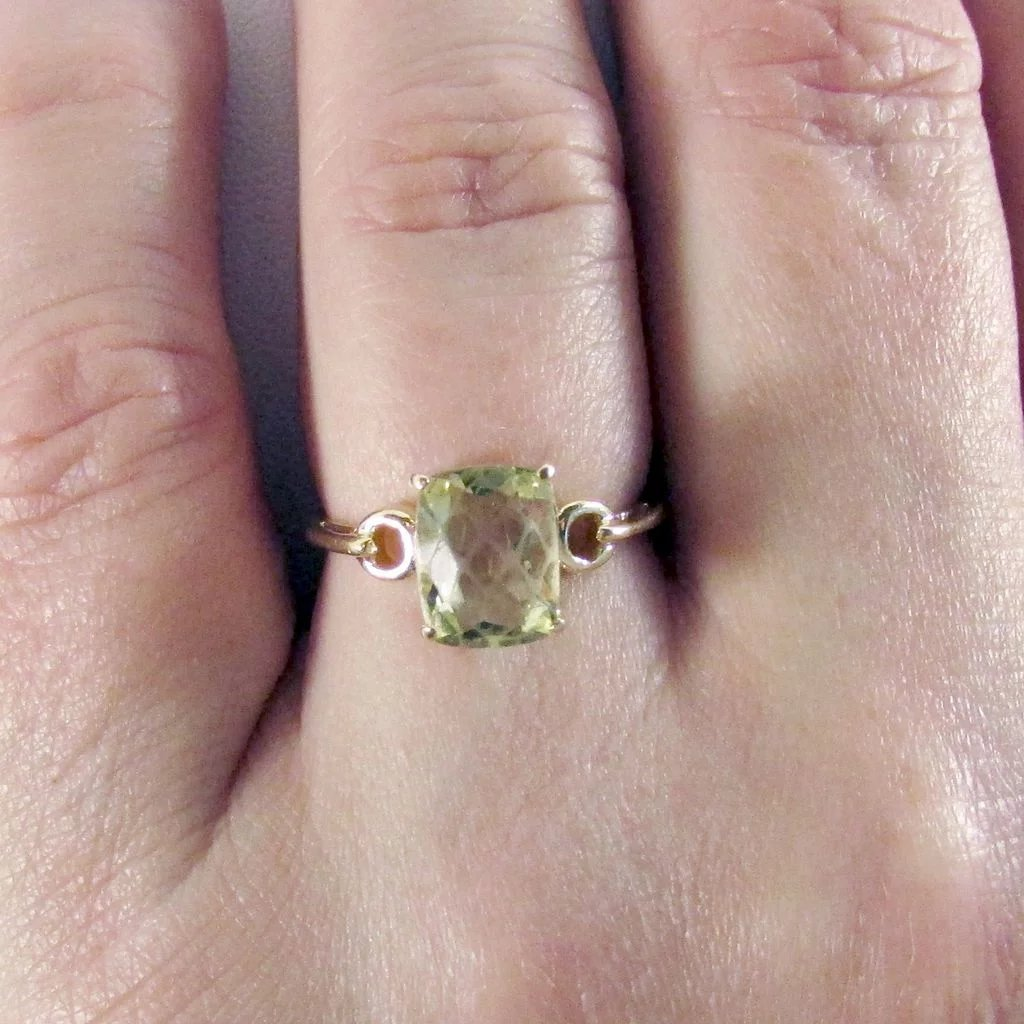 14K Prasiolite (Green Amethyst) Ring Size 7 : The Strands of Time ...