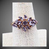 14K YG Tanzanite Ring Size 8 1/4