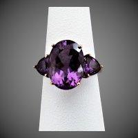 10K YG Amethyst Ring Size 7 1/2