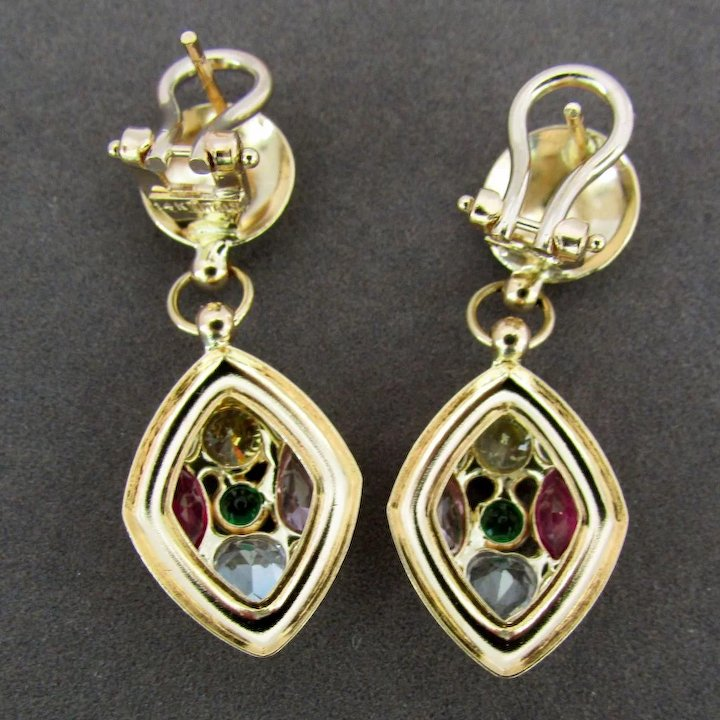 earring erm sterling multi gemstone cm size beautiful jewelry earrings silver