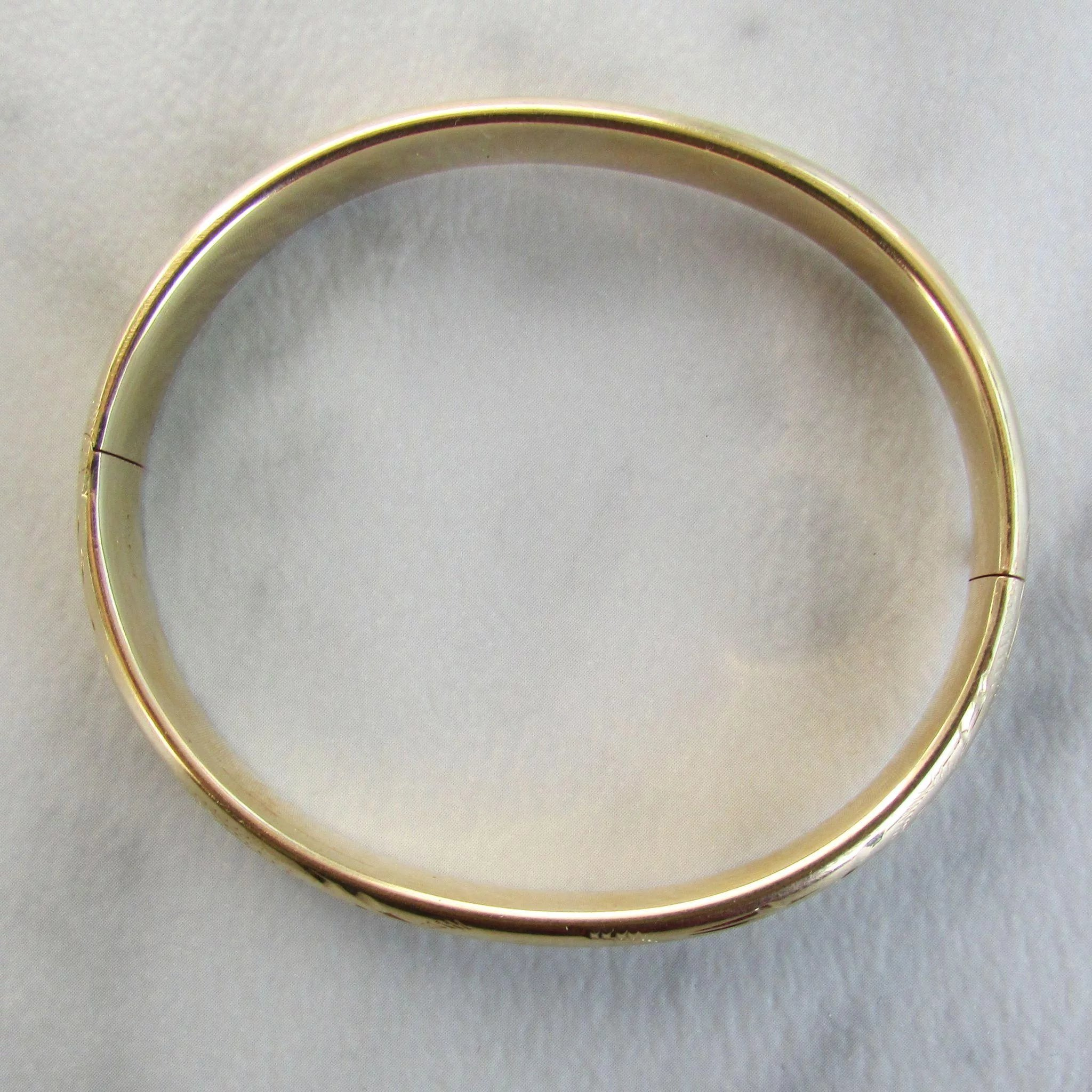 gold bracelet for engraved hammered bangles bangle pin
