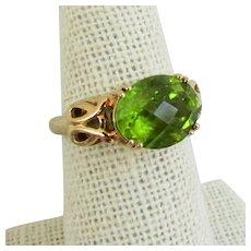 10K Peridot Ring size 6