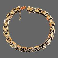 11.35 Grams, 18K YG Fancy Link Bracelet