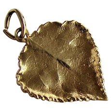 14K YG Leaf Pendant / Charm