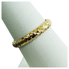 14K YG Textured Band Ring Size 7