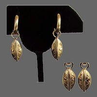 14K YG African Shield Earrings from the Republic of South Africa