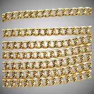 14K Curb Link Chain Necklace 18 Inches Long