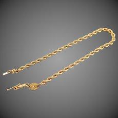 "14K YG ""SILK"" Rope Chain Bracelet"