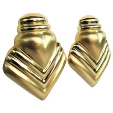 14K YG Large Gold Earrings