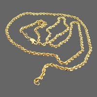 8.4 Grams, 14K YG Rope Chain Necklace, 22 1/2 Inches Long