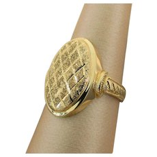 18K YG Ring Size 8 1/4, 5.3 Grams