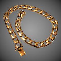 "20 Grams, 14K YG Curb Link Bracelet (8 1/2"" Closed)"