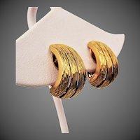 "13.9 Grams 18K YG Tiffany & Co. Gold ""J"" Hoop Earrings"