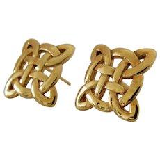 9K Gaelic Celtic Knot Earrings