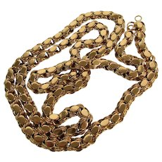 40 Grams 18K YG Reversible Necklace 31 3/4 Inches Long
