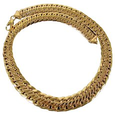 25.4 Grams Italian 14K YG Necklace