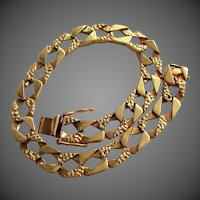 "26.8 Grams, 14K YG Fancy Cuban Link Bracelet, 9"" Closed"