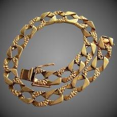 """26.8 Grams, 14K YG Fancy Cuban Link Bracelet, 9"""" Closed"""