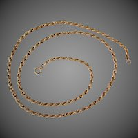 "19.6 Grams, 14K Rope Chain Necklace, 23"" Long"
