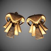 9 Grams, 18K YG Art Deco Style Earrings