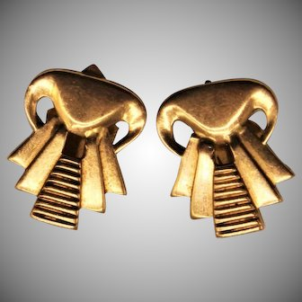 9 Grams, 18K YG Art Deco Style Earrings