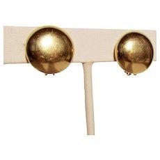 5.5 Grams, 14K YG Austrian Large Dome Earrings
