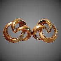 9.3 Grams, 18K YG Retro Swirl Earrings