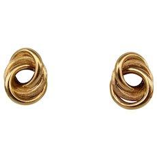 8.7 Grams, 18K YG Earrings