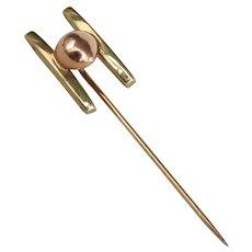 14K YG and RG Stick Pin