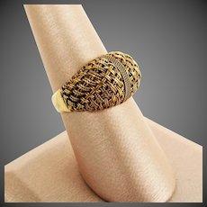 18K YG Italian Basket Weave Ring