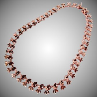 27.4 Grams, 14K Rose Gold Austrian Necklace