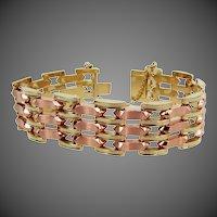 33.7 Grams, 14K YG & RG Austrian Bracelet
